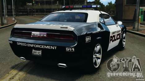 Dodge Challenger SRT8 392 2012 Police [ELS][EPM] для GTA 4 вид сзади слева