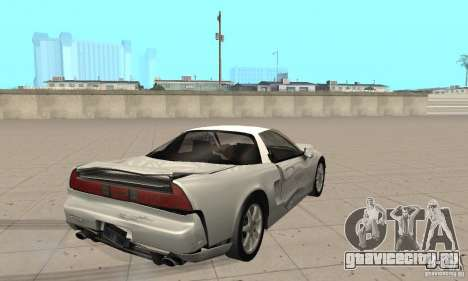 Acura NSX 1991 для GTA San Andreas вид сбоку