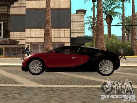 Bugatti Veyron для GTA San Andreas вид сзади слева