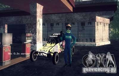 Багги Monster energy для GTA San Andreas вид сзади слева