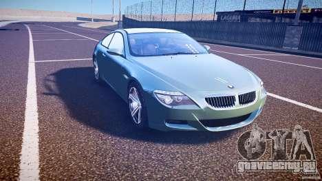 BMW M6 v1.0 для GTA 4 вид изнутри