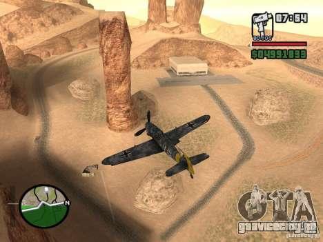 BF-109 G-16 для GTA San Andreas вид сзади слева