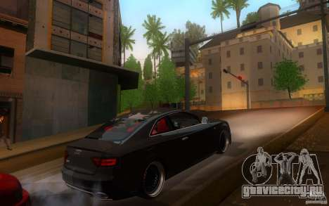 Audi S5 Black Edition для GTA San Andreas вид справа