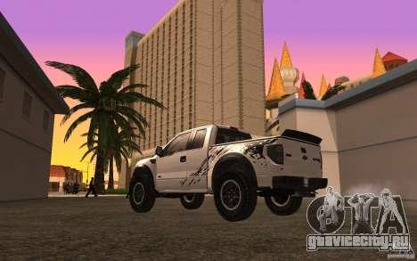 Ford F150 SVT RapTor для GTA San Andreas вид сверху