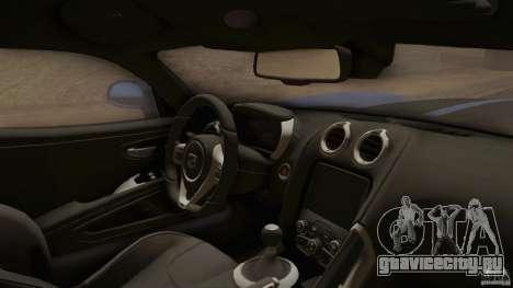 Dodge Viper GTS 2013 для GTA San Andreas вид справа