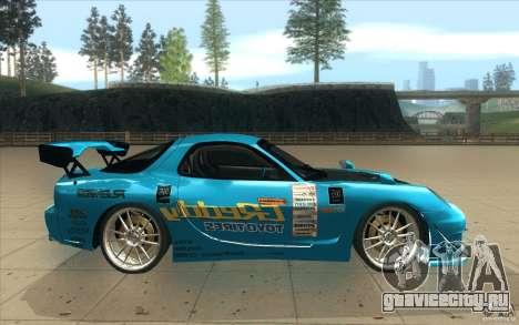 Mazda RX-7 911 Trust для GTA San Andreas вид изнутри
