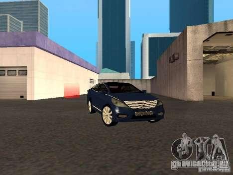 Hyundai Azera 2012 для GTA San Andreas вид сзади слева