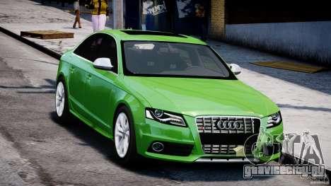 Audi S4 2010 v1.0 для GTA 4 вид сзади