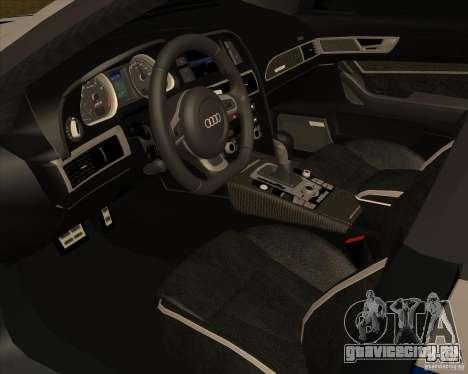 Audi RS6 2010 ДПС для GTA San Andreas вид справа
