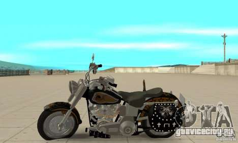 Harley Davidson FLSTF (Fat Boy) v2.0 Skin 5 для GTA San Andreas вид слева