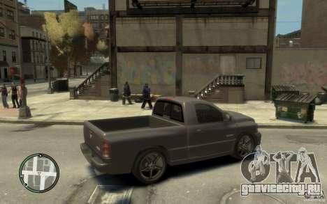 Dodge Ram SRT10 для GTA 4 вид справа