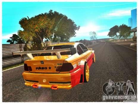 BMW M3 Calibri-Ace для GTA San Andreas вид сзади слева