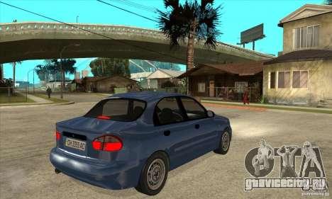 Daewoo Lanos v2 для GTA San Andreas вид справа