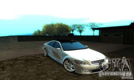 Mercedes-Benz S500 W221 Brabus для GTA San Andreas вид слева