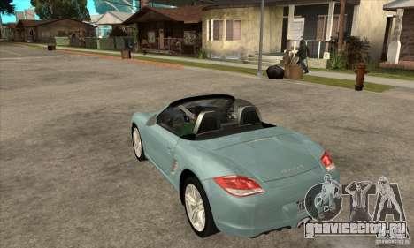 Porsche Boxster S 2010 для GTA San Andreas вид сзади слева