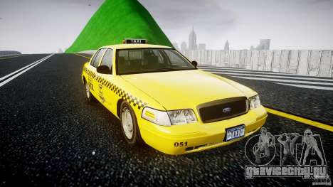 Ford Crown Victoria Raccoon City Taxi для GTA 4 вид справа