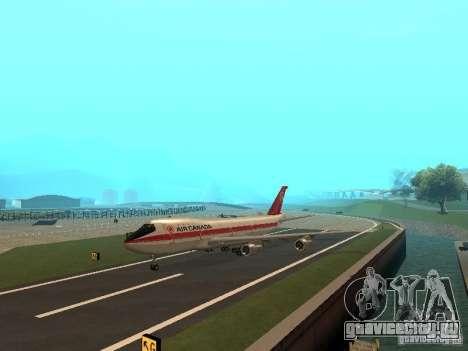 Boeing 747 Air Canada для GTA San Andreas вид сзади слева