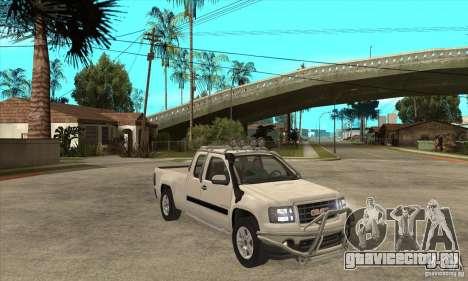 GMC Sierra для GTA San Andreas вид сзади