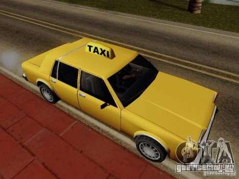 Greenwood Taxi для GTA San Andreas вид сзади слева