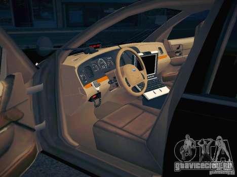 Ford Crown Victoria Police Intercopter для GTA San Andreas вид снизу