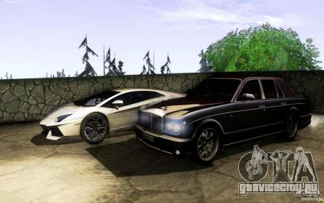 Bentley Arnage R 2005 для GTA San Andreas вид сверху