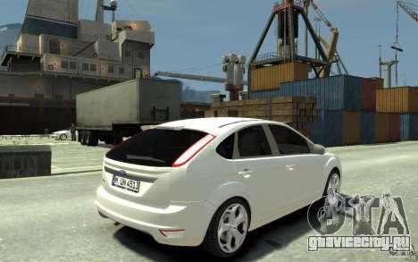 Ford Focus 2009 для GTA 4 вид справа