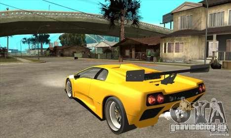 Lamborghini Diablo GT-R 1999 для GTA San Andreas вид сзади слева