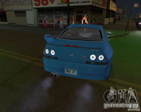 Nissan Skyline GT-R R-33 для GTA San Andreas вид сзади слева