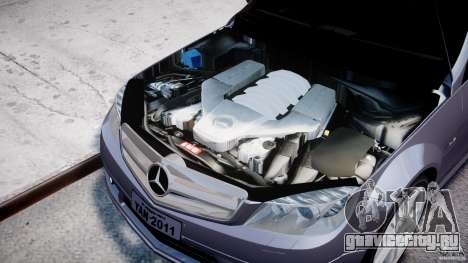 Mercedes-Benz C180 CGi Classic Special 2009 для GTA 4 вид справа