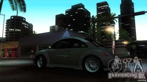 Volkswagen Beetle RSi Tuned для GTA San Andreas вид изнутри