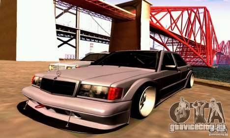 Mercedes-Benz 190E Drift для GTA San Andreas вид сзади слева