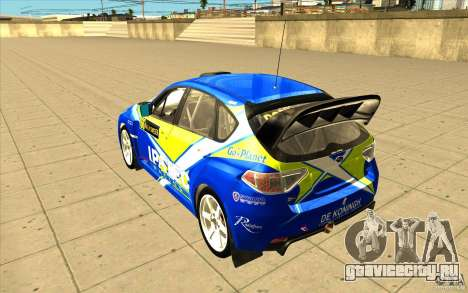 Subaru Impreza WRX STi с новыми винилами для GTA San Andreas вид снизу