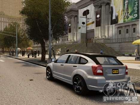 Dodge Caliber для GTA 4 вид справа