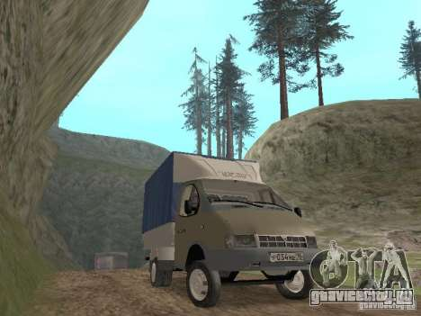ГАЗ 3302 2001г.в. для GTA San Andreas вид сзади