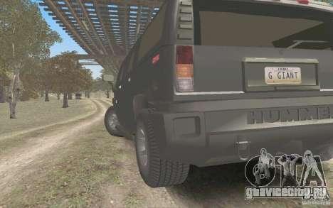 Hummer H2 Stock для GTA San Andreas вид сзади слева