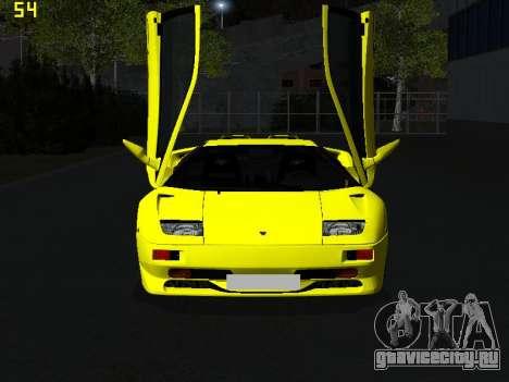 Lamborghini Diablo SV для GTA San Andreas вид сзади