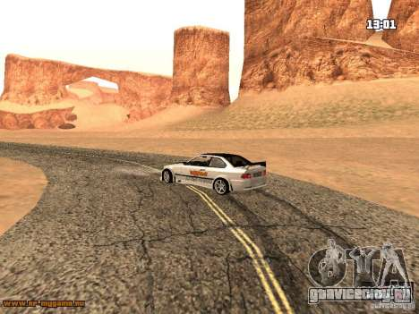 BMW M3 MyGame Drift Team для GTA San Andreas вид сзади