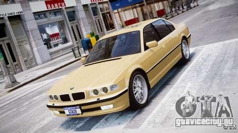 BMW 750i v1.5 для GTA 4 вид изнутри