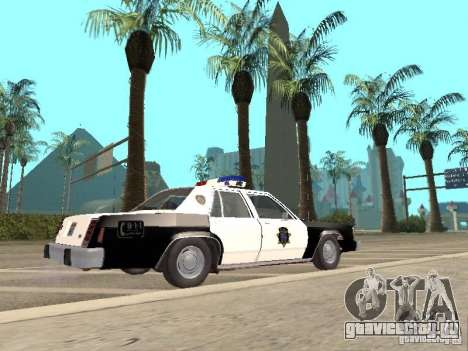 Ford LTD Crown Victoria Interceptor LAPD 1985 для GTA San Andreas вид слева