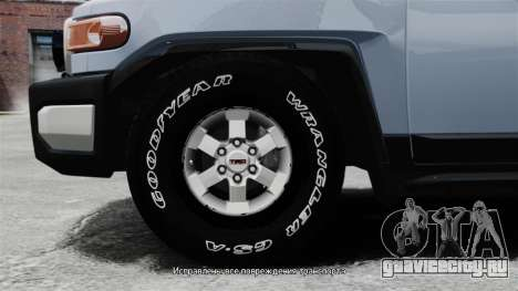 Toyota FJ Cruiser для GTA 4 вид сзади