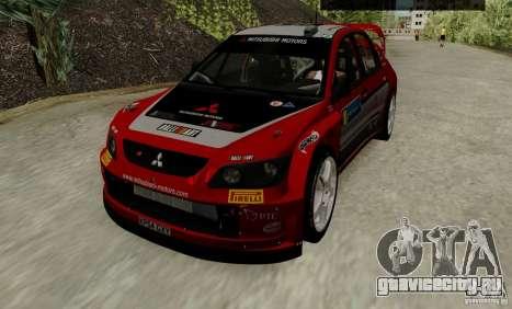 Mitsubishi Lancer Evolution VIII WRC для GTA San Andreas