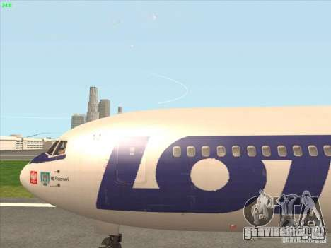 Boeing 767-300 LOT Polish Airlines для GTA San Andreas вид сзади