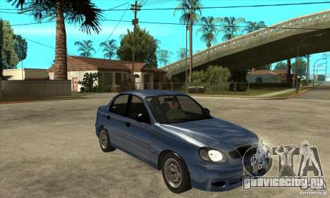 Daewoo Lanos v2 для GTA San Andreas вид сзади