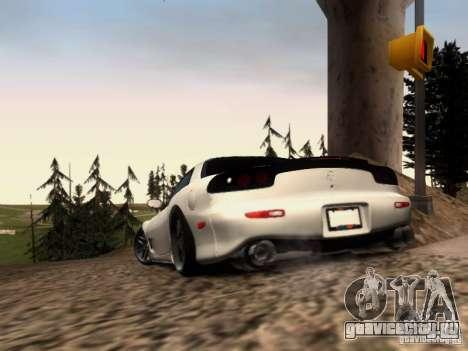 Mazda RX7 Tuning для GTA San Andreas вид сзади слева