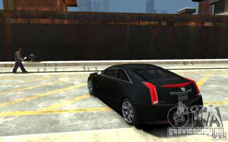 Cadillac CTS-V Coupe 2011 v.2.0 для GTA 4 вид сзади слева