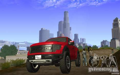Ford F150 SVT RapTor для GTA San Andreas вид сзади
