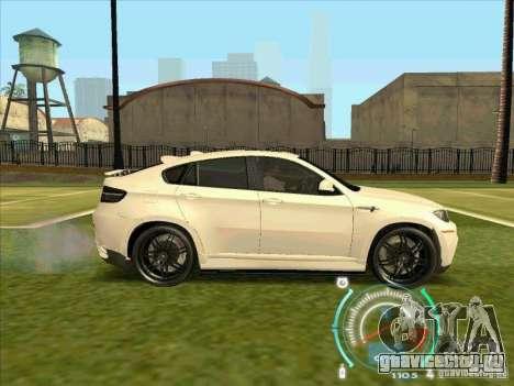 BMW X6 M Hamann Design для GTA San Andreas вид сзади слева