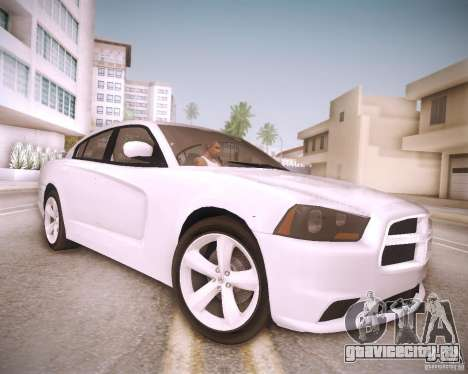 Dodge Charger 2011 v.2.0 для GTA San Andreas вид сзади