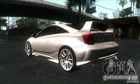 Toyota Celica-SS2 Tuning v1.1 для GTA San Andreas вид справа