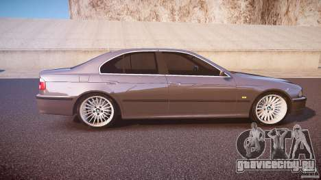 BMW 530I E39 stock white wheels для GTA 4 вид изнутри
